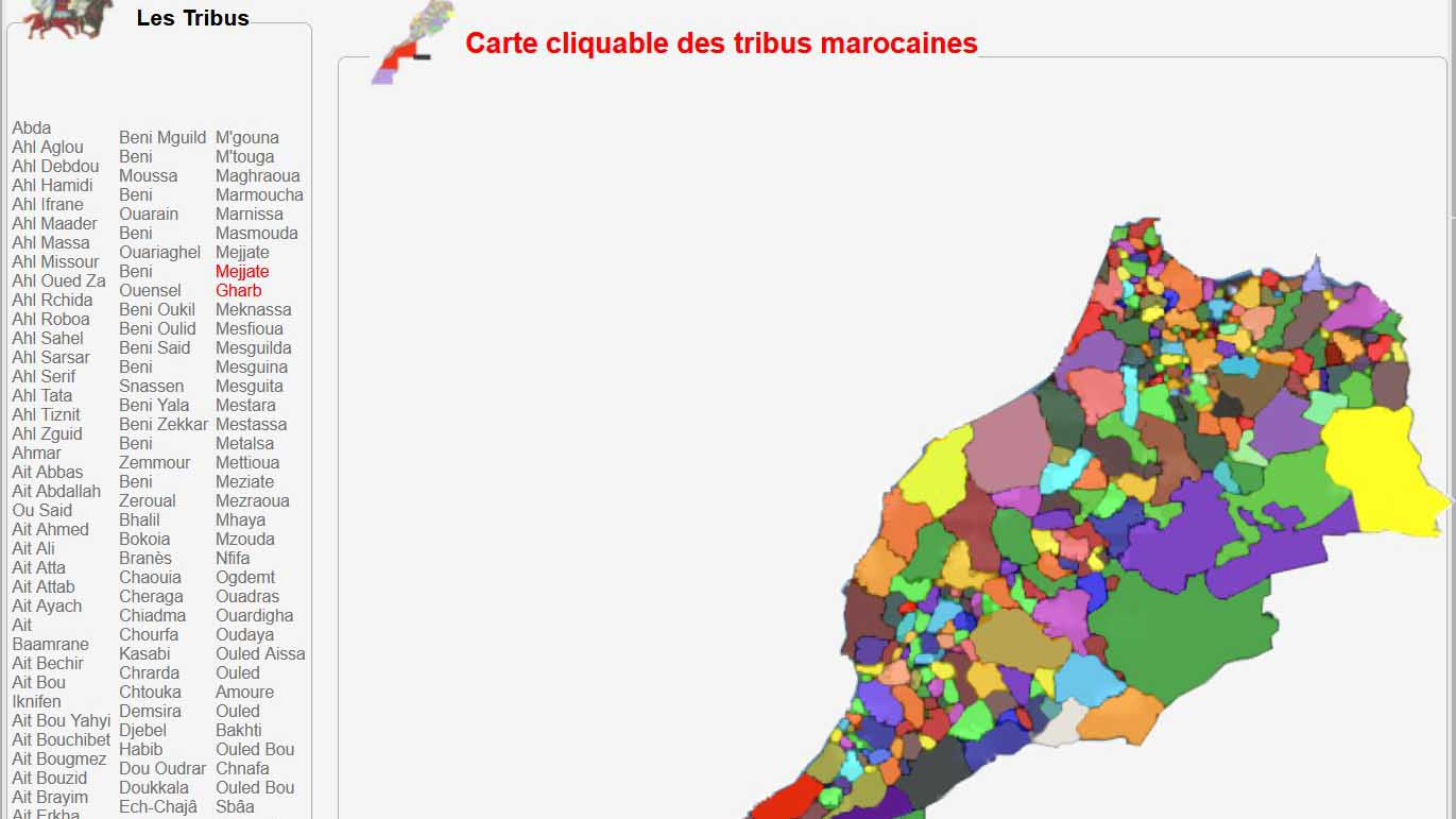 Photo of Carte interactive des tribus du Maroc